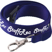 Flat Polyester Lanyard (15 x 900mm) (1 col print to 1 Side)