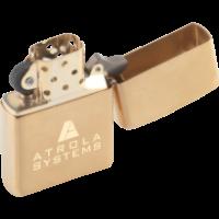 Zippo - Brushed Brass (Laser Engraved)