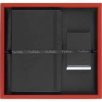 Pierre Cardin - Exclusive Gift Set IV (Deboss to Notebook & Laser Engraving to BC Holder )