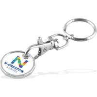 Trolley Coin - Keychain - Single Sided - Unlaminated - 3 Day Service (Full Colour Print)
