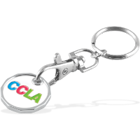 Trolley Coin Keychain Soft Enamel (£/€)(up to 4 cols-2 sides)