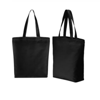 Green Planet Black Cotton Canvas Tote Bag