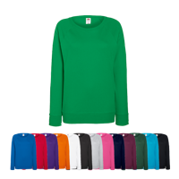 Lady Fit Lightweight Raglan Sweatshirt