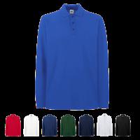 Premium Long Sleeve Pique Polo Shirt