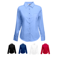 Lady Fit Long Sleeve Poplin Shirt