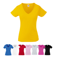 Lady Fit Value V Neck T-Shirt