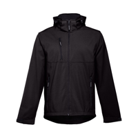 ZAGREB. Men's softshell with removable hood