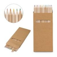 CROCO. Pencil box with 12 colouring pencils.