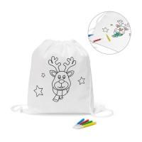 GLENCOE. Children's colouring drawstring bag
