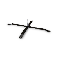 METAL CROSS BASE WITH ROTATOR FOR ADVERTISING FLAG