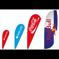 BAT FAN BEACH ADVERTISING FLAG 140 X 420 CM