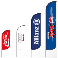 BAT FAN S ADVERTISING FLAG 65 X 165 CM