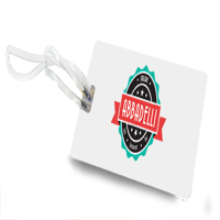 PVC LUGGAGE TAG WITH CLEAR TRANSPARENT STRAP