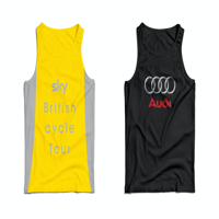 CUSTOM DESIGN SPORTS/RUNNING VEST WITH YOUR LOGO PRINTED FULL COLOUR TO BOTH SIDES