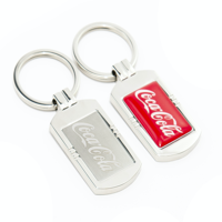 NEXUS 1 LUXURY FEEL KEYRING WITH FULL COLOUR RESIN DOME LOGO