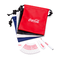 LEATHERETTE  EMBROIDERED DRAWSTRING GOLF GIFT BAG 2