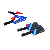 ACRYLIC LUGGAGE TAGS IN A BESPOKE SHAPE (MAX. SIZE 126 X 108 MM & 3 MM THICK)