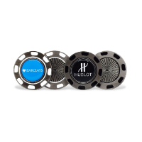 METAL GOLF POKERCHIP WITH REMOVABLE BALL MARKER
