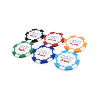 ABS GOLF POKERCHIP WITH FULL COLOUR PRINT TO BOTH SIDES