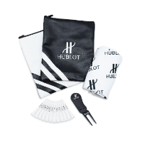 PREMIUM ZIPPED LEATHERETTE EMBROIDERED GOLF GIFT BAG 1