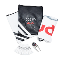 PREMIUM ZIPPED LEATHERETTE EMBROIDERED GOLF GIFT BAG 4