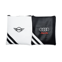 PREMIUM ZIPPED LEATHERETTE EMBROIDERED GOLF GIFT BAG