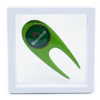 CONTEMPORARY GOLF DIVOT REPAIR TOOL PRESENTED IN LEVIT8 PACKAGING