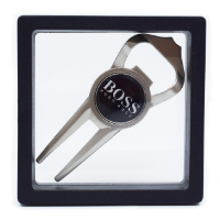 GEO BOTTLE OPENER (GOLF DIVOT REPAIR TOOL AND BOTTLE OPENER IN 1) PRESENTED IN LEVIT8 PACKAGING