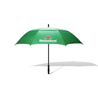 STRATUS AUTO OPENING DOUBLE CANOPY SCREEN PRINTED GOLF UMBRELLA PRINT TO 3 PANELS, 4 COLOURS