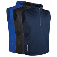 Glenmuir Mens Water Repllent Zip Neck Performance Sleeveless Windshirt