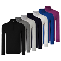 Callaway Ribbed 1/4 Merino Zip Sweater