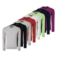 Callaway Ribbed V-Neck Merino Sweater