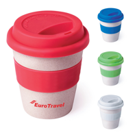 Bamboo Travel Cup with Lid and Grip