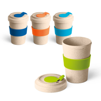 Sleeved Bamboo Travel Mug