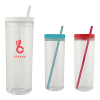 Clear Drinking Bottle with Straw