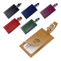 Eco Natural Leather Luggage Tag