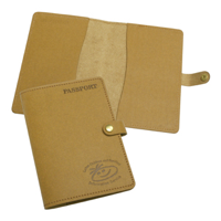 Eco Natural Leather Passport Wallet