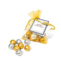 Organza Gold & Silver Foil balls
