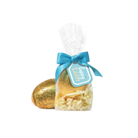 Large Tag Bag Gold Foil Egg