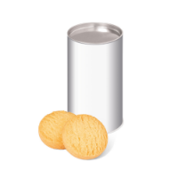 Eco Range – Small snack tube - Mini Shortbread Biscuits