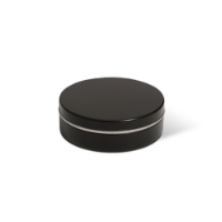XS Peppermint Tin - Black - Dome Label