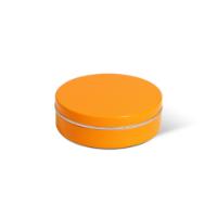 XS Peppermint Tin - Orange - Dome Label
