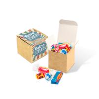 Eco Kraft Cube - Retro Sweets
