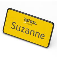 ID Badge 70 mm x 36 mm pin