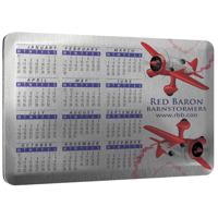Large Calendar Felt Backed Metal Coasters