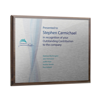 12X15 inch Oblong Metal Faced Plaque - personalised