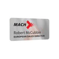 Personalised Metal Name Badges, full colour print
