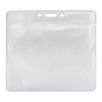 Top loading Soft PVC Card Holder, landscape 113X101mm