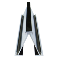 Desktop aluminium nameplate holders double sided