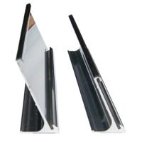 Desktop aluminium nameplate holders single sided